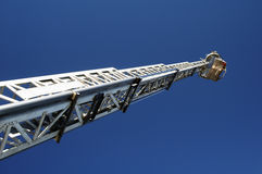 Fire & Rescue. Ladder extended on a fire truck Stock Images
