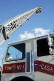 Fire & Rescue. Ladder extended on a fire truck Royalty Free Stock Image