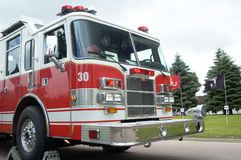 Fire & Rescue. Fire department vehicle Stock Photos