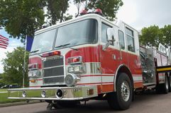 Fire & Rescue. Fire department vehicle Stock Images