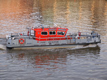 Fire rescue boat. LONDON - JANUARY 21 2014: A fire and rescue boat on the river Thames on January 21  2014 in London Stock Photo