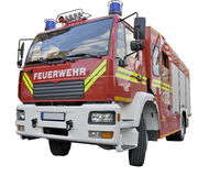 A fire rescue car. A fire rescue vehicle. Germany  version.  With clipping path Royalty Free Stock Image