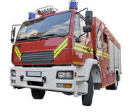 A fire rescue car. A fire rescue vehicle. International version. With clipping path Royalty Free Stock Photography