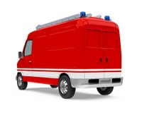 Fire Rescue Car Isolated. On white background. 3D render Royalty Free Stock Images