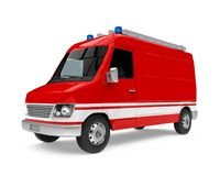 Fire Rescue Car Isolated. On white background. 3D render Stock Photo