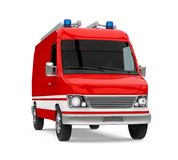 Fire rescue car isolated. On white background. 3D render Stock Images