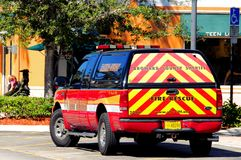Fire rescue, Florida (rear view) Stock Photography