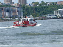 Fire rescue. On the Hudson river, new york Royalty Free Stock Images