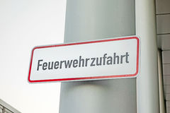 Fire rescue path (Feuerwehrzufahrt) stock photography