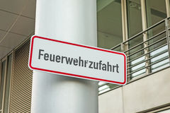Fire rescue path (Feuerwehrzufahrt) Royalty Free Stock Photo