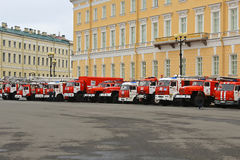 Fire & Rescue Saint-Petersburg, Russia Stock Image