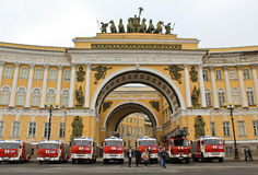 Fire & Rescue Saint-Petersburg, Russia Stock Photos