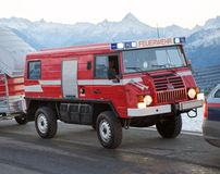 Fire and rescue service in the mountains Royalty Free Stock Photography