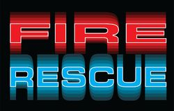 Fire Rescue Text in Vibrant Colors. Fire Rescue is an illustration of vibrant text that says Fire and Rescue. Great for use in fire, rescue, emergency and Royalty Free Stock Photos