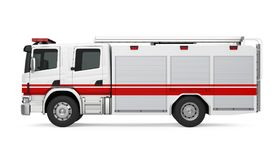 Fire Rescue Truck Isolated. On white background. 3D render Stock Image