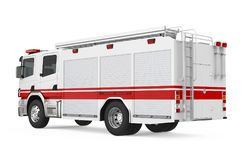 Fire Rescue Truck Isolated. On white background. 3D render Stock Photo