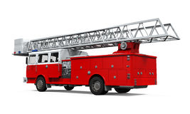 Fire Rescue Truck. Isolated on white background. 3D render Royalty Free Stock Image