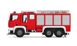 Fire Rescue Truck. Isolated on white background. 3D render Royalty Free Stock Photography