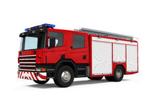 Fire Rescue Truck. Isolated on white background. 3D render Stock Photography
