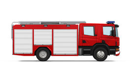 Fire Rescue Truck. Isolated on white background. 3D render Royalty Free Stock Images