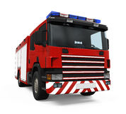 Fire Rescue Truck. Isolated on white background. 3D render Stock Image