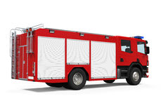 Fire Rescue Truck. Isolated on white background. 3D render Royalty Free Stock Photos