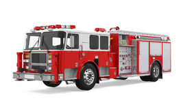 Fire Rescue Truck Isolated. On white background. 3D render Royalty Free Stock Image