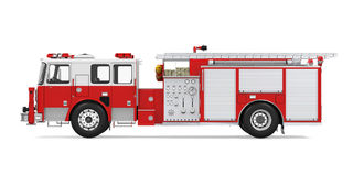 Fire Rescue Truck Isolated. On white background. 3D render Stock Photos