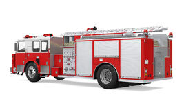 Fire Rescue Truck Isolated. On white background. 3D render Stock Photography