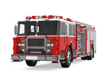 Fire Rescue Truck Isolated Stock Photo