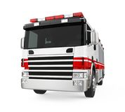 Fire Rescue Truck Isolated. On white background. 3D render Royalty Free Stock Photography