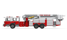 Fire Rescue Truck. On white background. 3D render Stock Images
