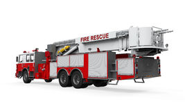 Fire Rescue Truck. On white background. 3D render Royalty Free Stock Photography