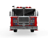 Fire Rescue Truck. On white background. 3D render Royalty Free Stock Photo