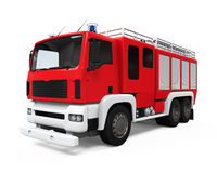 Fire Rescue Truck. On white background. 3D render Royalty Free Stock Images