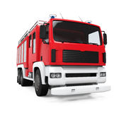 Fire Rescue Truck. On white background. 3D render Stock Photos