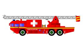 Fire rescue vehicle vector illustration
