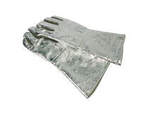 Fire resistant gloves Royalty Free Stock Photos