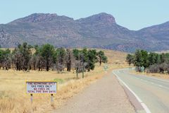 Fire restrictions in Flinders Ranges National Park, Australia Royalty Free Stock Image