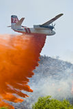 Fire retardant air drop Royalty Free Stock Photos