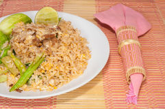Fire rice with thai style Royalty Free Stock Image