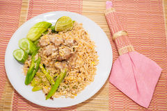 Fire rice with thai style Royalty Free Stock Photo