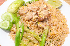 Fire rice with thai style Stock Photos