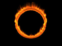 Fire ring. A burning ring of fire Stock Photos