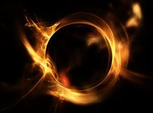 Fire ring. Abstract fiery circle on a black background Stock Photography