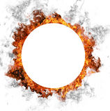 Fire ring. Empty fire ring isolated on white background Royalty Free Stock Images