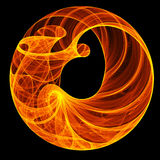 Fire ring. Abstract hot fire ring on dark background Stock Photography