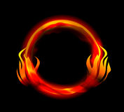 Fire ring. On black Stock Photography