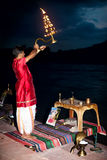 Fire ritual royalty free stock images