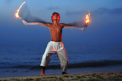 Fire ritual Stock Photography